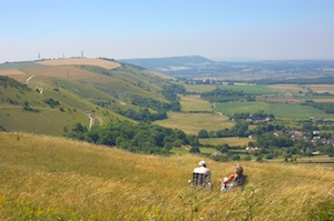 South Downs Couple Deckchairs